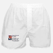 Pinocchio says he got bin Laden Boxer Shorts