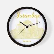Istanbul_12X12_HagiaSophia_Yellow Wall Clock