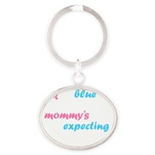 Pink or Blue Oval Keychain