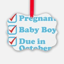 Due in October Ornament