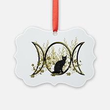 Triple Moon Art Series Cat Ornament