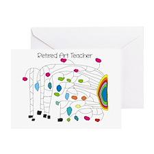 Retired Teacher B Art Greeting Card