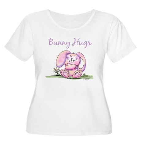 Bunny Hugs Women's Plus Size Scoop Neck T-Shirt