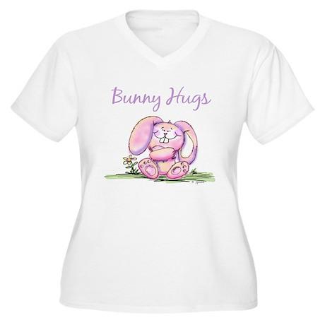 Bunny Hugs Women's Plus Size V-Neck T-Shirt