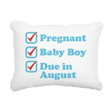 Due in August Rectangular Canvas Pillow