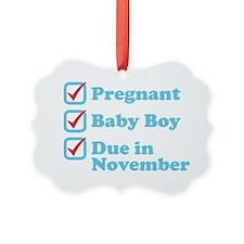 Due in November Ornament
