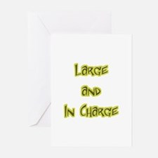 Large And In Charge Greeting Cards (Pk of 10)