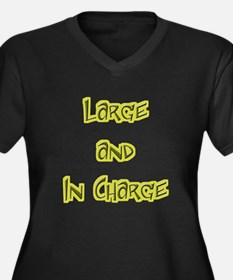 Large And In Charge Women's Plus Size V-Neck Dark
