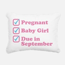 Due in September Rectangular Canvas Pillow