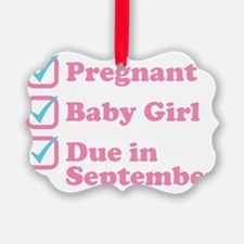 Due in September Ornament