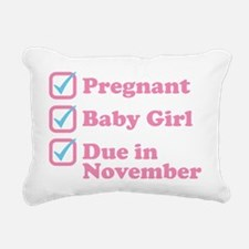 Due in November Rectangular Canvas Pillow