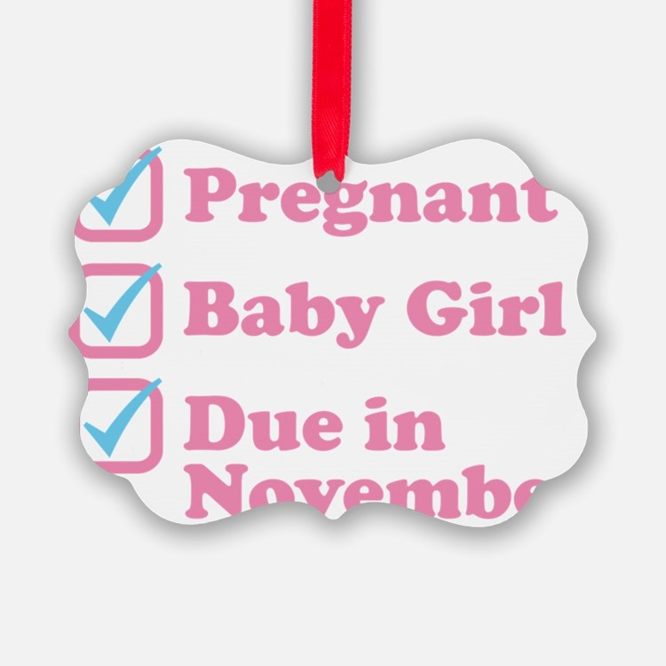 Due in November Ornament
