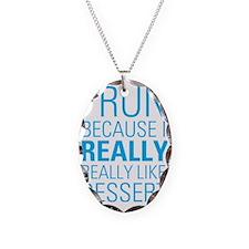 I RUN FOR DESSERT Necklace