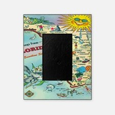 Vintage Florida Greetings Map Picture Frame