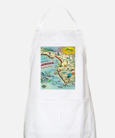 Vintage Florida Greetings Map Apron