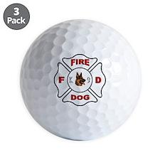 White Maltese Cross FD Golf Ball