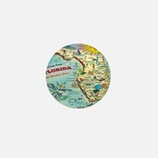 Vintage Florida Greetings Map Mini Button