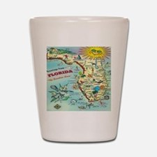 Vintage Florida Greetings Map Shot Glass