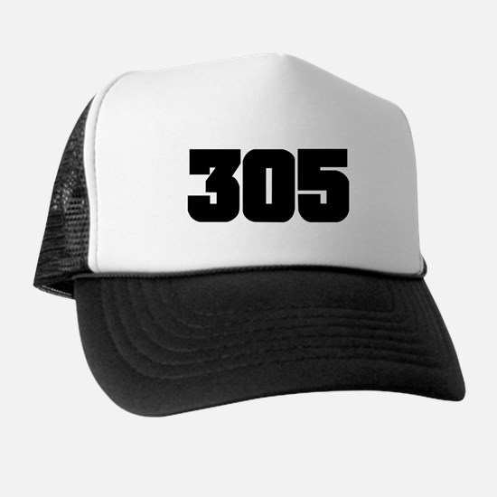 305 Black Slab Style Trucker Hat