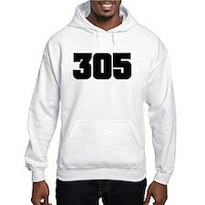 305 Black Slab Style Hoodie