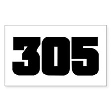 305 Black Slab Style Rectangle Decal