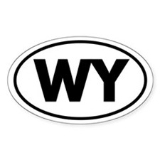 WY Oval Sticker (Wyoming)