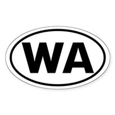 WA Oval Sticker (Washington State)