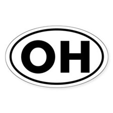 OH Oval Sticker (Ohio)