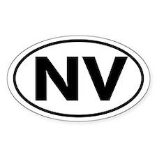 NV Oval Sticker (Nevada)