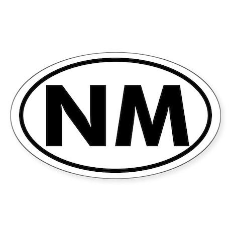 NM Oval Sticker (New Mexico)