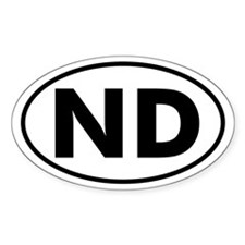 ND Oval Sticker (N. Dakota)