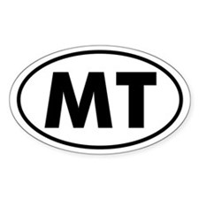MT Oval Sticker (Montana)