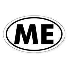 ME Oval Sticker (Maine)