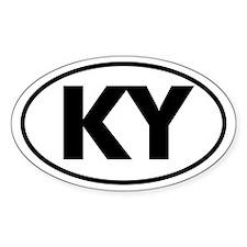 KY Oval Sticker (Kentucky)