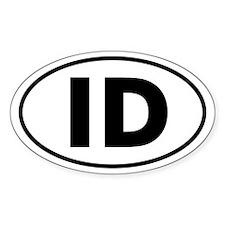 ID Oval Sticker (Idaho)