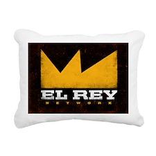 El Rey Black Logo Rectangular Canvas Pillow
