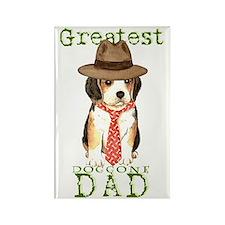 beagle dad Rectangle Magnet