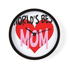 Worlds Best Mom Wall Clock