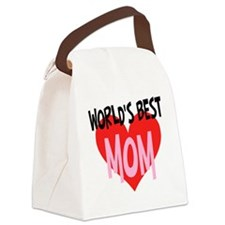 Worlds Best Mom Canvas Lunch Bag
