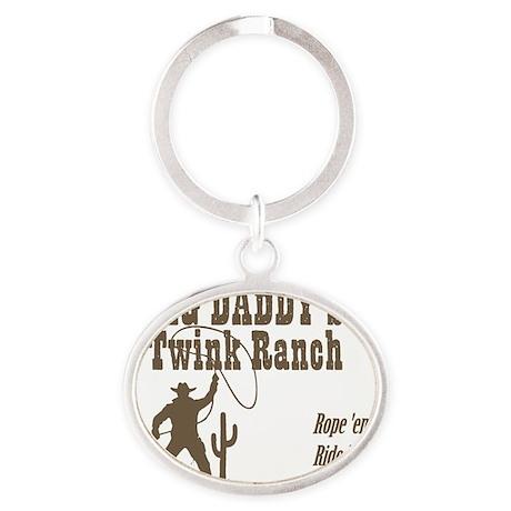 Big Daddys Twink Ranch Oval Keychain