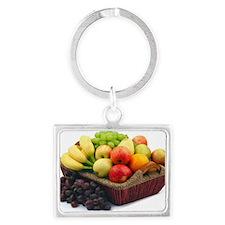 Basket of fruit Landscape Keychain