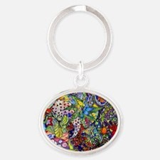 cool Paisley Oval Keychain