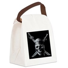 skull and crossbones Canvas Lunch Bag