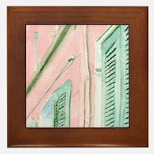 French Quarter Courtyard Framed Tile