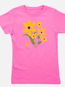Summer Yellow Flowers Girl's Tee
