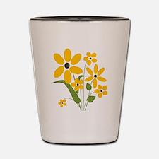 Summer Yellow Flowers Shot Glass