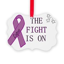 Fighting Lupus Picture Ornament