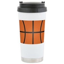 Basketball Pattern Travel Mug