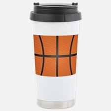 Basketball Pattern Travel Mug