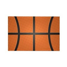 Basketball Pattern Rectangle Magnet